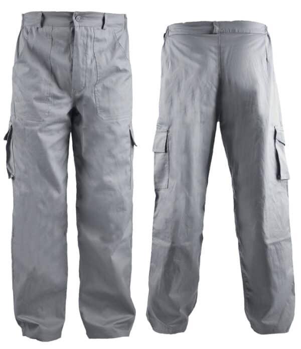 cargo pantalone svetlo sive
