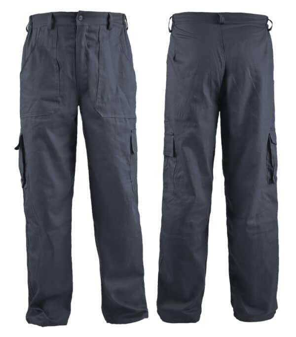 cargo pantalone tamno sive