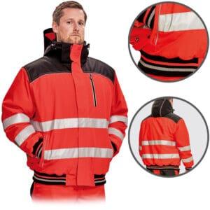 Knoxfield HV Pilot jakna crvena